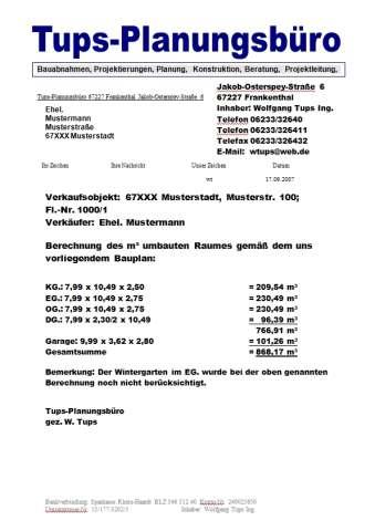 Berechnung M³ Umbauten Raumes I M³ Umbauter Raum Berechnung